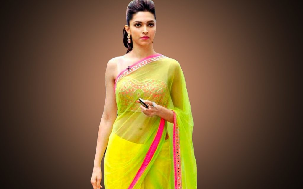 deepika padukone clothing style in saree