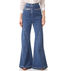 high waisted flared jeans 70s